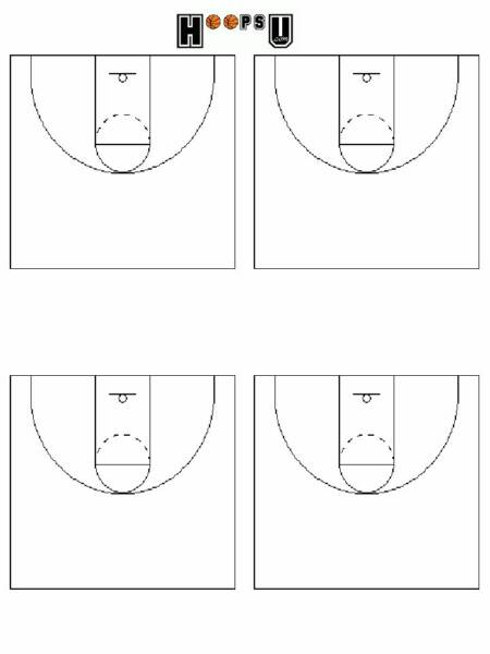 Basketball Court Diagrams | Printable Basketball Court Templates ...